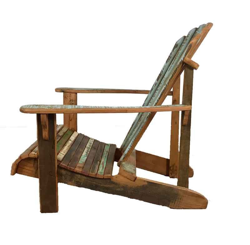 adirondack, coastal chair, wooden chair, reclaimed wood chair, lounge chair,