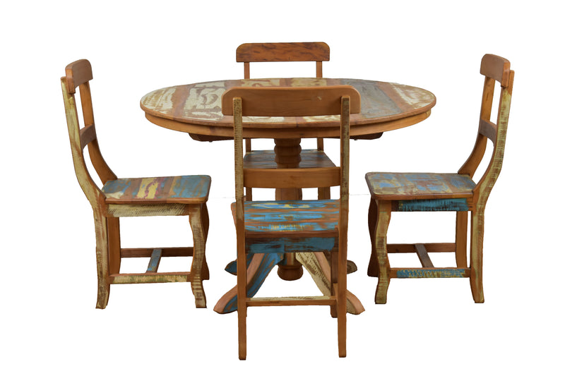 Reclaimed Wood Dining Set