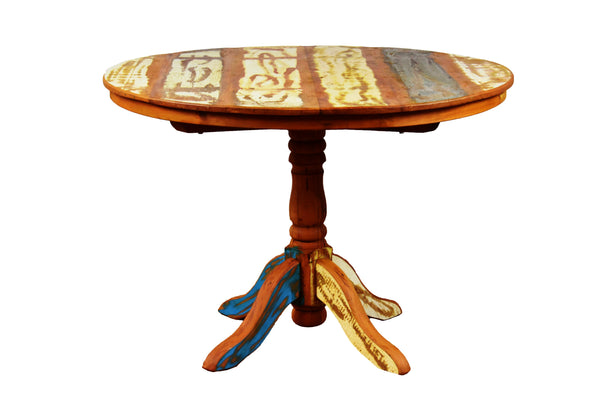 reclaimed wood round dining table, round dining, reclaimed wood dining table,