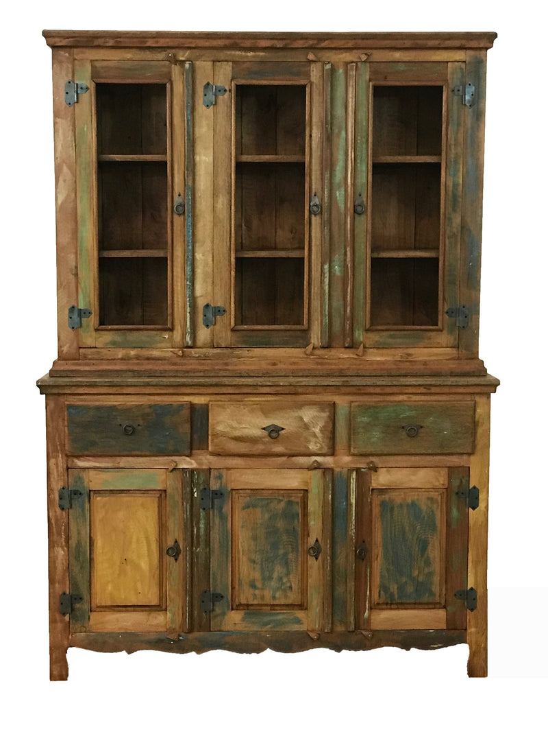 Reclaimed Wood Buffet Hutch