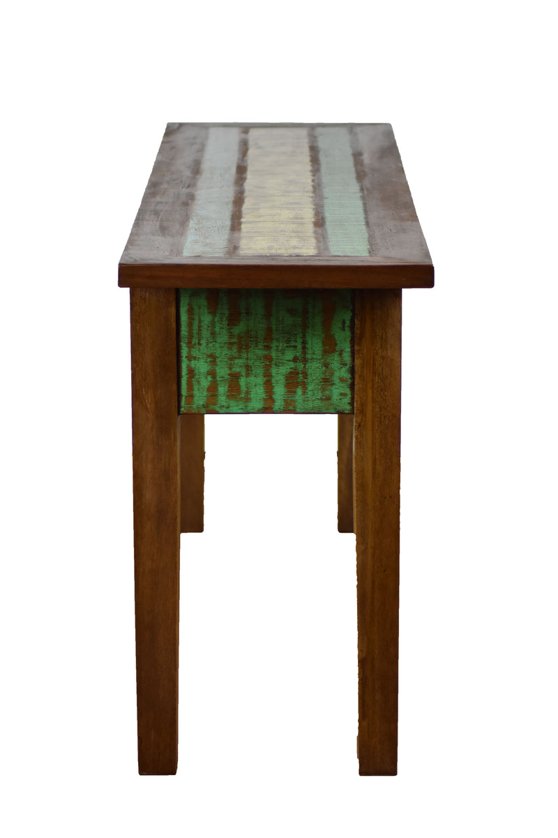 reclaimed wood console table, peroba rosa wood, reclaimed wood furniture,