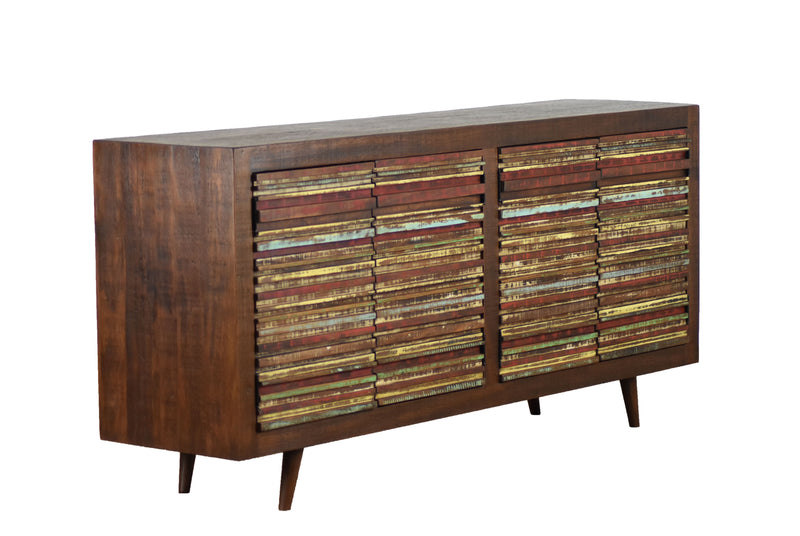 four door reclaimed wood sideboard, affordable online, reclaimed wood, home stores furniture,