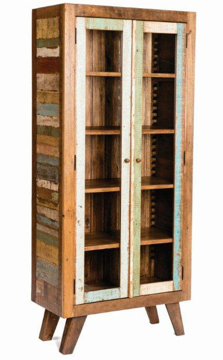 Reclaimed Wood Display Cabinet