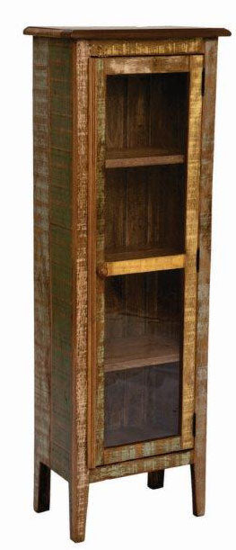 Rustic Narrow Bookcase