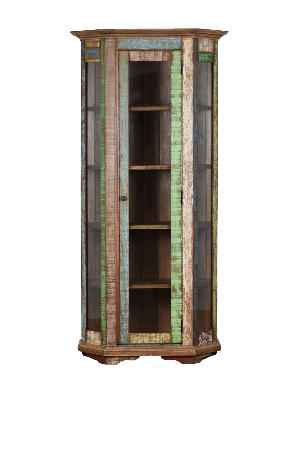 Distressed Tall Curio Cabinet