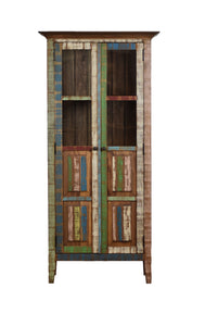 display cabinet hutch, furniture, home furniture, reclaimed wood,