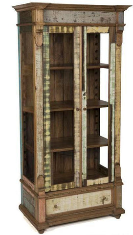 display cabinet, china cabinet, reclaimed wood display cabinet,