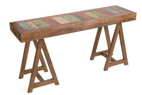 reclaimed wood console table, hallway table, solid wood console,
