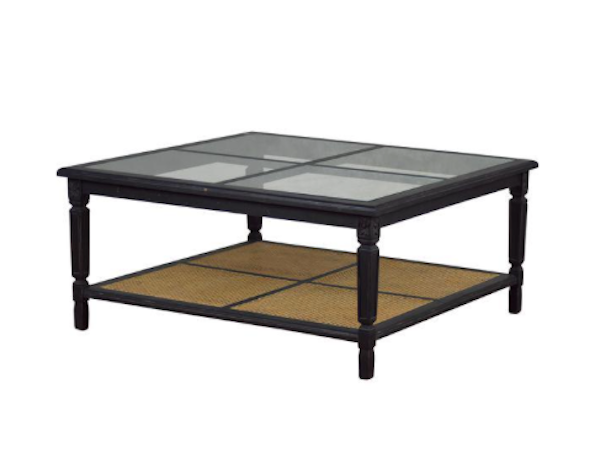 Glass & Solid Wood Casement Coffee Table