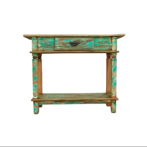 reclaimed wood console, small console, distressed wood, console table,