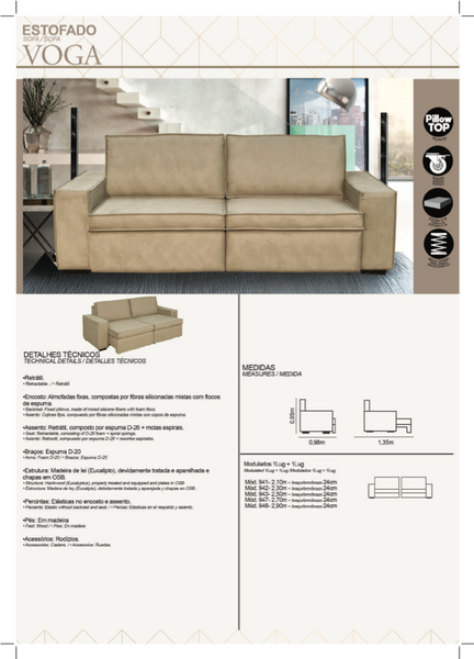 Voga Sofa Retractable