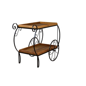 bar cart, reclaimed bar cart, furniture, rustic bar cart, wood,