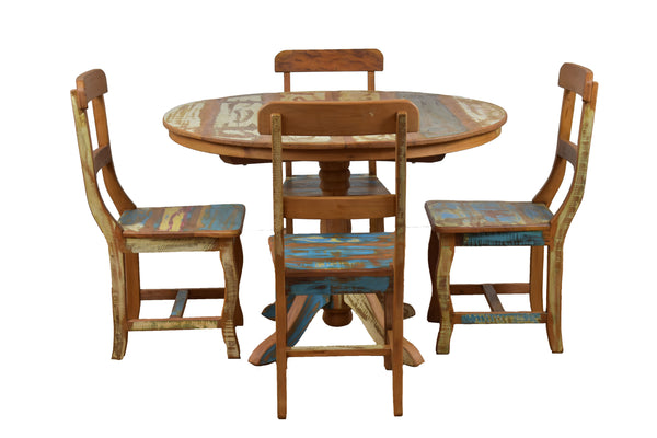 Sofia Reclaimed Wood Round Dining Table