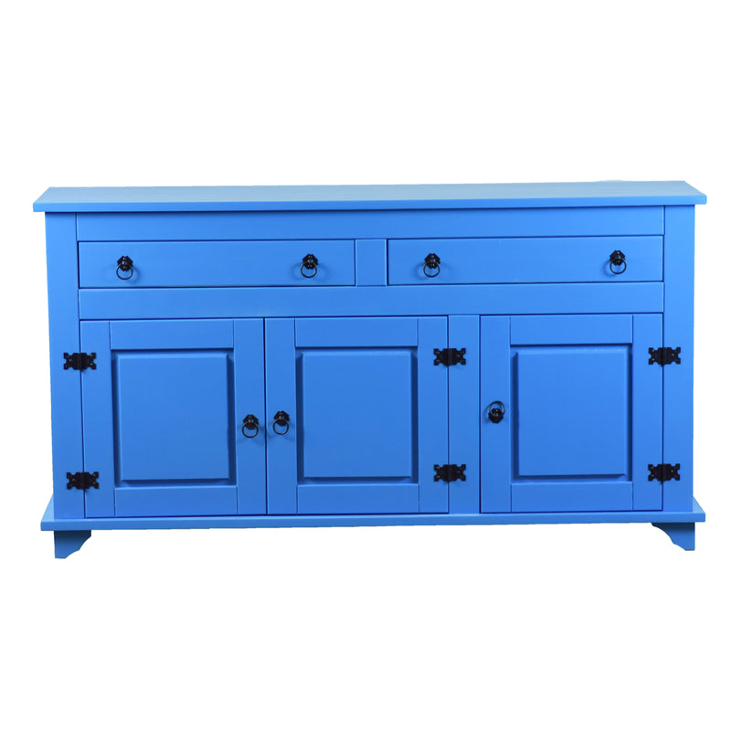 reclaimed wood sideboard, blue sideboard, reclaimed wood cabinet,