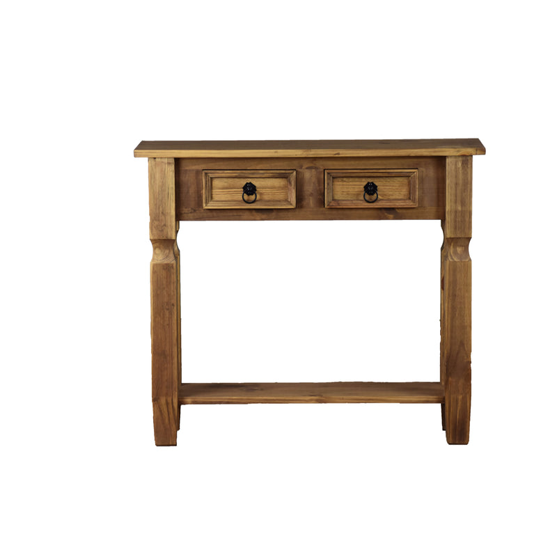 French Country 2 Drawer Console Table