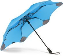 Load image into Gallery viewer, blue compact umbrella underside