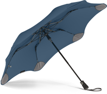 Load image into Gallery viewer, Navy Blue compact umbrella underside