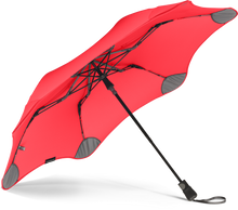 Load image into Gallery viewer, Red compact umbrella underside