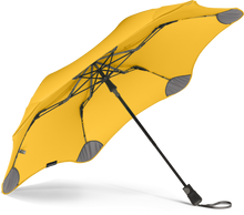 Load image into Gallery viewer, Yellow compact umbrella underside