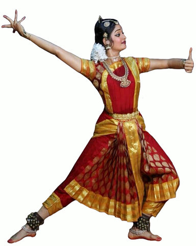Red & Goldren  Folk Dance Dress