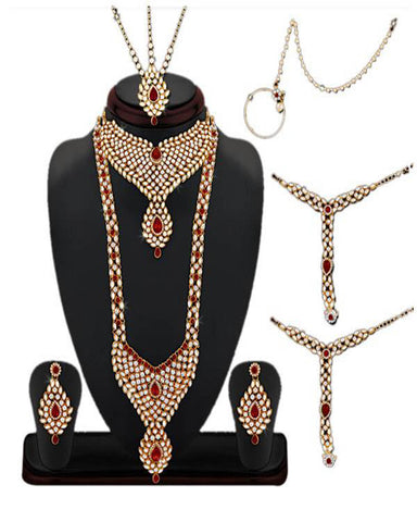 Fancy Gold Plated Bridal Jewellery Set