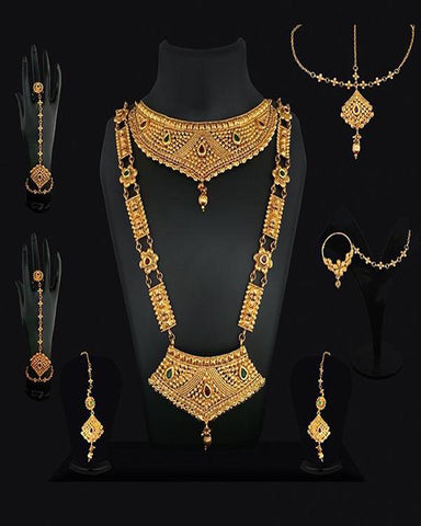 Kundan Gold Plated Bridal Jewellery Set