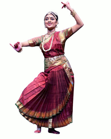 Maroon Bhatatnatyam Dance Dress