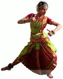 Green & Pink Classical Dance Dress