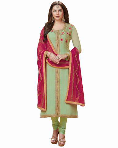 Light Green Color Mango Georgette Suit