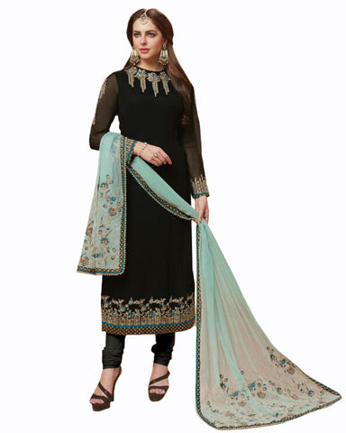 Black color Mango Georgette Suit