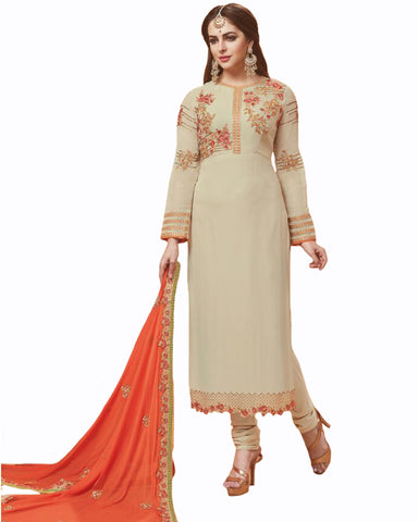 Cream color Mango Georgette Suit