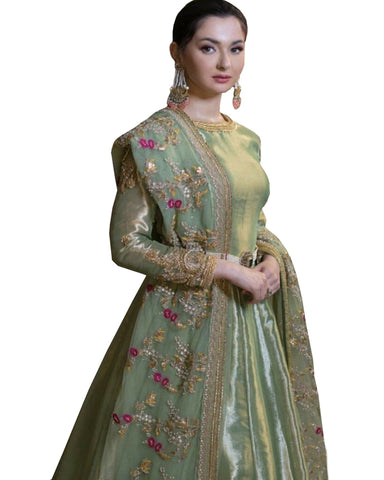 Demanding Pista Colored Party wear Suit