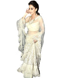 Bollywood White Color Madhuri Lehenga
