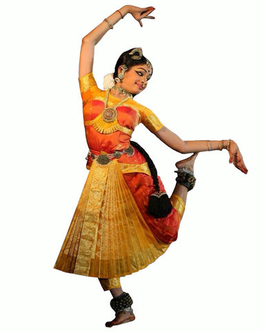 Orange & Yellow Classical Dance Dress
