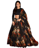 Buy Bharat Movie Katrina Kaif Black Floral Lehenga Choli