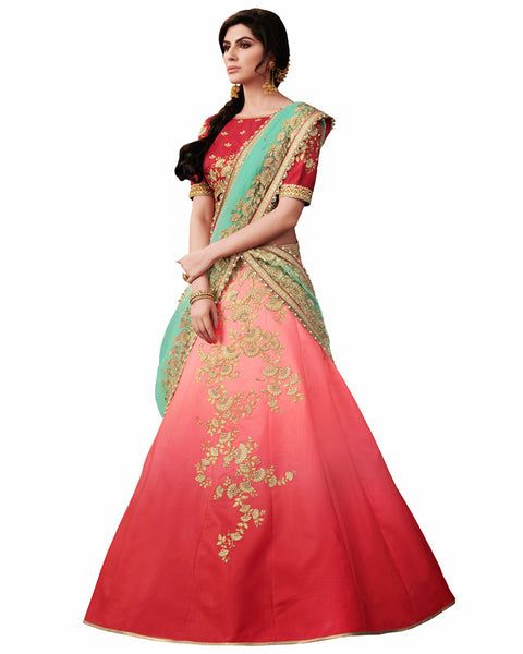 Red Color Party Wear Designer Lehenga Choli