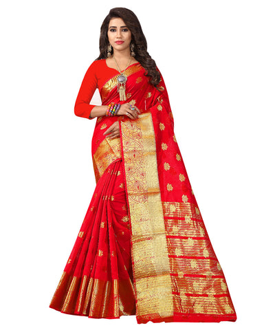 Red Color Banarsi Saree