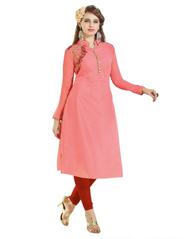 Peach Color Glam Kurti