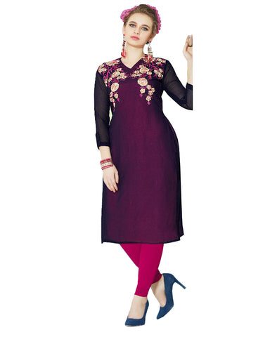 Purple Color Designer Kurti