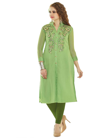 Light Green Designer kurti