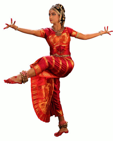 Red Indian Classical Dance Bharatanatyam Dress