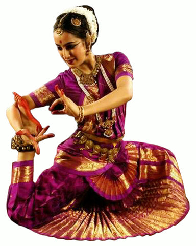 Purple Indian Classical Dance Bharatanatyam Dress