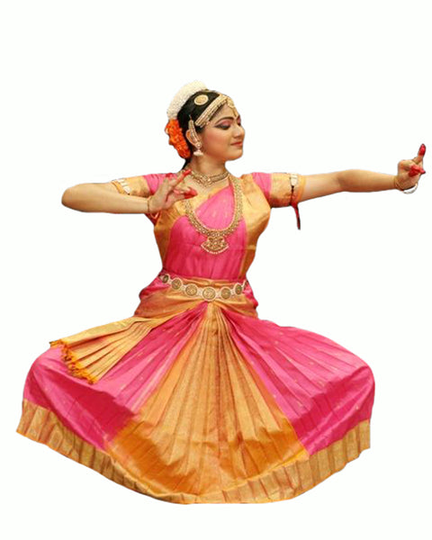 Light Pink & Orange Folk Dance Dress
