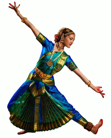 Royal Blue & Green Folk Dance Dress