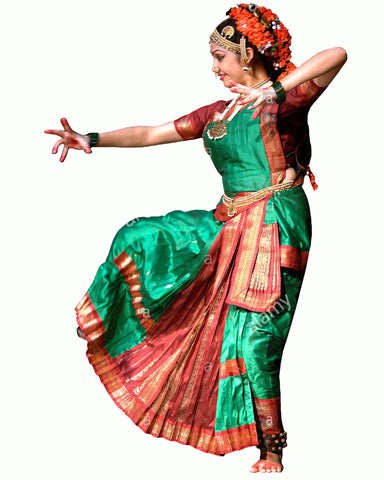 Green & Red Folk Dance Dress
