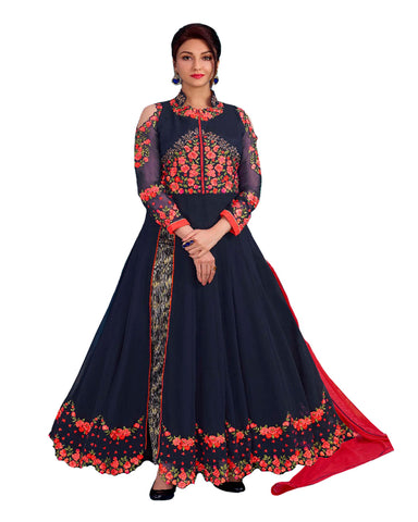 Party Wear Navy Georgette Salwar Suit
