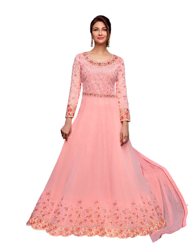 Party Wear Light Pink Georgette Salwar Suit