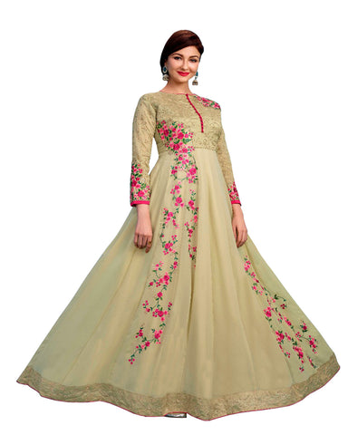 Party Wear Light green Georgette Salwar Suit