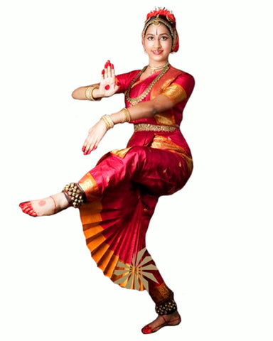 Red & Yellow Bhatatnatyam Dance Dress