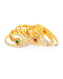 Amazing Gold Plated Kundan Bangle For Women